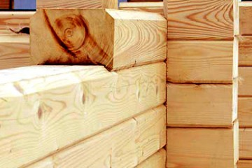 Profiled beams (logs)